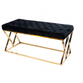 Bench Royal, black/golden