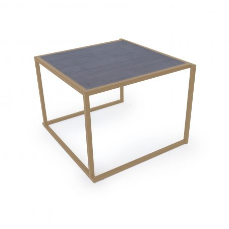 Coffee table Rectangle, golden/black